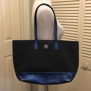 Tory Burch felt and leather tote